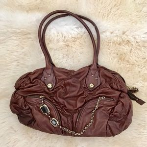 Juicy Couture goat leather rauched bag